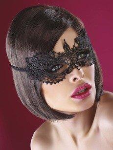 Model 12 maska na oczy - czarna - uwodź spojrzeniem