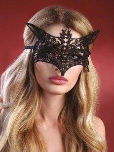 Model 9 maska na oczy - czarna - w kształcie motyla