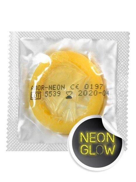 Neon - prezerwatywy świecące w ciemności (1 szt.) - AM-60022