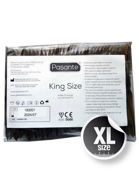 King Size - prezerwatywa powiększona WIELOPAK 72 STUKI