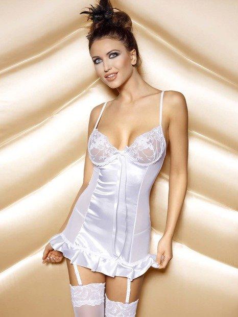 Naomi Set White - piękna koszulka z wstążką WYPRZEDAŻ